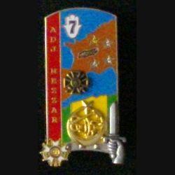 """PROMOTION ENSOA : insigne du 4° bataillon de la 249° promotion de l'école nationale des sous-officiers d'active """"adjudant NEZZAR"""" de fabrication Arthus Bertrand G. 4989"""