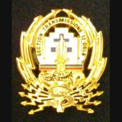 13° DBLE : insigne métallique de la section de transmissions de la 13° demi brigade de la légion étrangère de fabrication Boussemart 2009