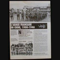 CLASSEUR D'ARTICLES SUR INSIGNES DE L'ARMEE FR EN CHINE ET INDO