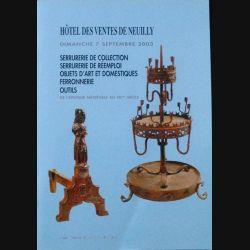 0. CATALOGUE DES VENTES DE NEUILLY 7 SEPTEMBRE 2003 (C90)