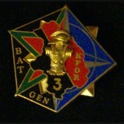 31° RG : insigne métallique du 31° régiment du génie KFOR BATGEN 3 de fabrication Arthus bertrand Paris