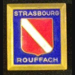 ÉCOLE STRASBOURG ROUFFACH : insigne militaire de l'école militaire de Strasbourg Rouffach de fabrication Drago Olivier Métra en émail