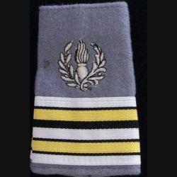 FOURREAU COMMISSARIAT : Fourreau de lieutenant-colonel du commissariat sur fond gris