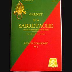 1. CARNET DE LA SABRETACHE N°178 DEC 2008 LÉGION ÉTRANGÈRE N°1 (C89)