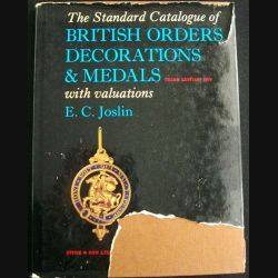 0. BRITISH ORDERS DECORATIONS AND MEDALS BY E.C.JOSLIN 3°EDITION 1976 (C87)