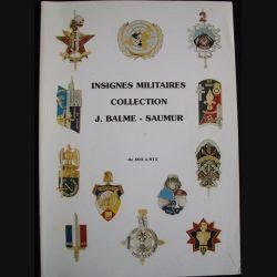 0. INSIGNES MILITAIRES COLLECTION J.BALME DE 403 A 815
