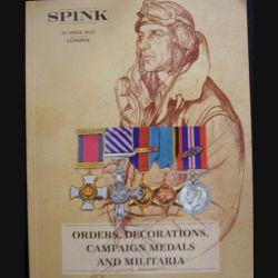 0. Catalogue SPINK sur les médailles militaires anglaises principalement et militaria d'avril 2013 (C65)