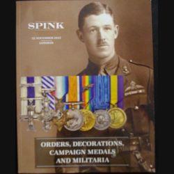 0. Catalogue SPINK sur les médailles militaires anglaises principalement et militaria de novembre 2012 (C65)