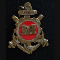 SMBC : insigne métallique du service du matériel des bâtiments coloniaux de fabrication Drago Olivier Métra H. 705 en émail