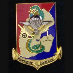 35° RAP : insigne de la batterie mixte du 35° régiment d'artillerie parachutiste à Djibouti de fabrication Boussemart 2000 cobra translucide