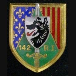 142° RI : 142° RÉGIMENT D'INFANTERIE (D 1958) ÉMAIL