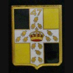 47°RI : 47°RÉGIMENT D'INFANTERIE (D 1277) ÉMAIL 1 PIN'S CASSÉ