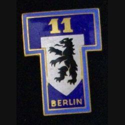 11° CT : 11° compagnie de transmissions de Berlin de fabrication Drago Paris G. 1359 en émail