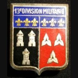 13°DM : 13°DIVISION MILITAIRE ÉMAIL (DRAGO)
