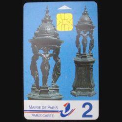 PARIS CARTE : MAIRIE DE PARIS CARTE 2 (200 FRS) FONTAINE WALLACE