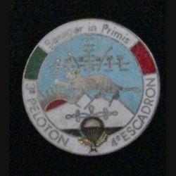 1° RHP 4° ESC 3° PON : insigne du 3° peloton du 4° escadron du 1° régiment de hussards parachutistes de fabrication Gervasi et Plugh non mentionné