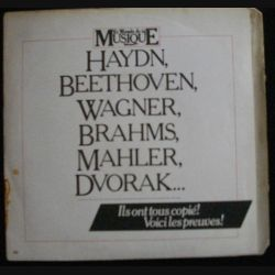 DISQUE 45 TOURS : HAYND - BEETHOVEN - WAGNER - BRAHMS - MAHLER - DVORAK (C72)
