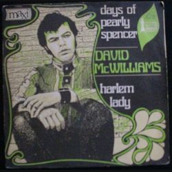 DISQUE 45 TOURS : DAVID MC WILLIAMS DAYS OF PEARLY SPENCER (C72)