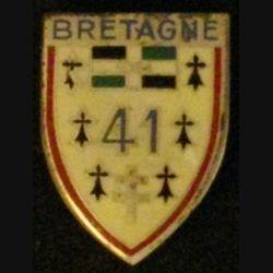 41° RI : insigne du 41° Régiment d'infanterie de fabrication drago