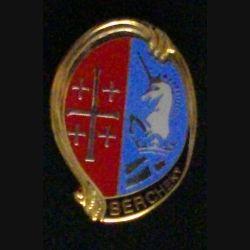 1° RHP : insigne métallique du 1° régiment de hussards parachutistes de fabrication Boussemart H. 295