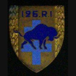 126°RI : 126°RÉGIMENT D'INFANTERIE (BISON BLEU) (ANDOR) ÉMAIL