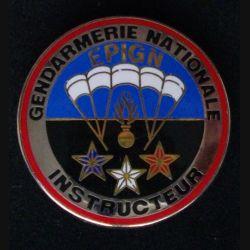 EPIGN : insigne métallique de brevet instructeur de l'escadron parachutiste d'intervention de la Gendarmerie nationale EPIGN de fabrication Boussemart 2004