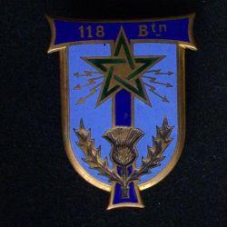 118°BT : 118°BATAILLON DE TRANSMISSIONS ÉMAIL (DOM 662)