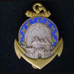 24° RIC : insigne métallique du 24° régiment d'infanterie coloniale de fabrication Drago Paris G. 1318 en émail