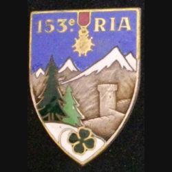 153° RIA : 153° RÉGIMENT D'INFANTERIE ALPINE (D BER) ÉMAIL