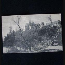 CARTE POSTALE GUERRE 1914-1918 : KIRCHE VOUZIERS 19-7-1915