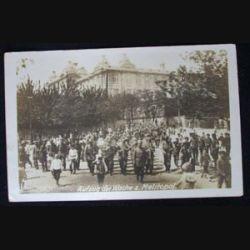 CARTE POSTALE GUERRE 1914-1918 : DÉFILÉ MILITAIRE 25 SEPT 1918