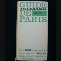 Guide de Paris de Henri Gault et Christian Millau aux éditions Julliard (C69)