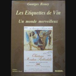 Les étiquettes de vin - Un monde merveilleux de Georges Renoy aux éditions Rossel (C75)