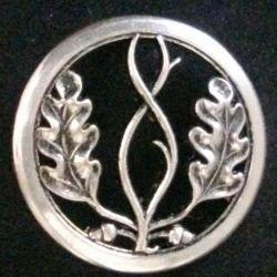 INSIGNE DE BÉRET : insigne de béret du Trésor aux armées de fabrication Coinderoux en métal argenté