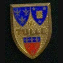 INSIGNE RELIGIEUX : Insigne du pélerinage de Tulle à Notre Dame de Lourdes en émail de fabrication Chobillon et sans attache