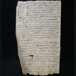 vieux manuscrit (4) du 18 brumaire an septième comprenant 1 page recto verso avec un sceau de 15 centimes
