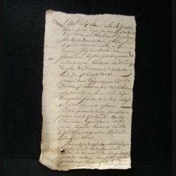 vieux manuscrit (6) de l'an sixième de la République française comprenant 1 page recto verso avec un sceau de 15 centimes
