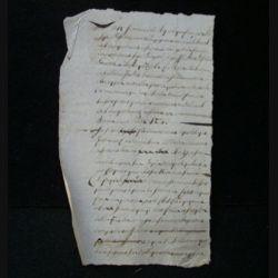 vieux manuscrit (8) de l'an sixième comprenant 1 page recto verso avec un sceau de 15 centimes