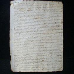 vieux manuscrit (9) de l'an sixième comprenant 1 page recto verso avec un sceau de 25 centimes