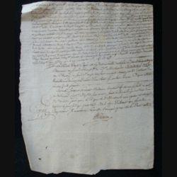 vieux manuscrit (11) du 14 brumaire an six comprenant 1 page recto avec un sceau de 25 centimes au verso
