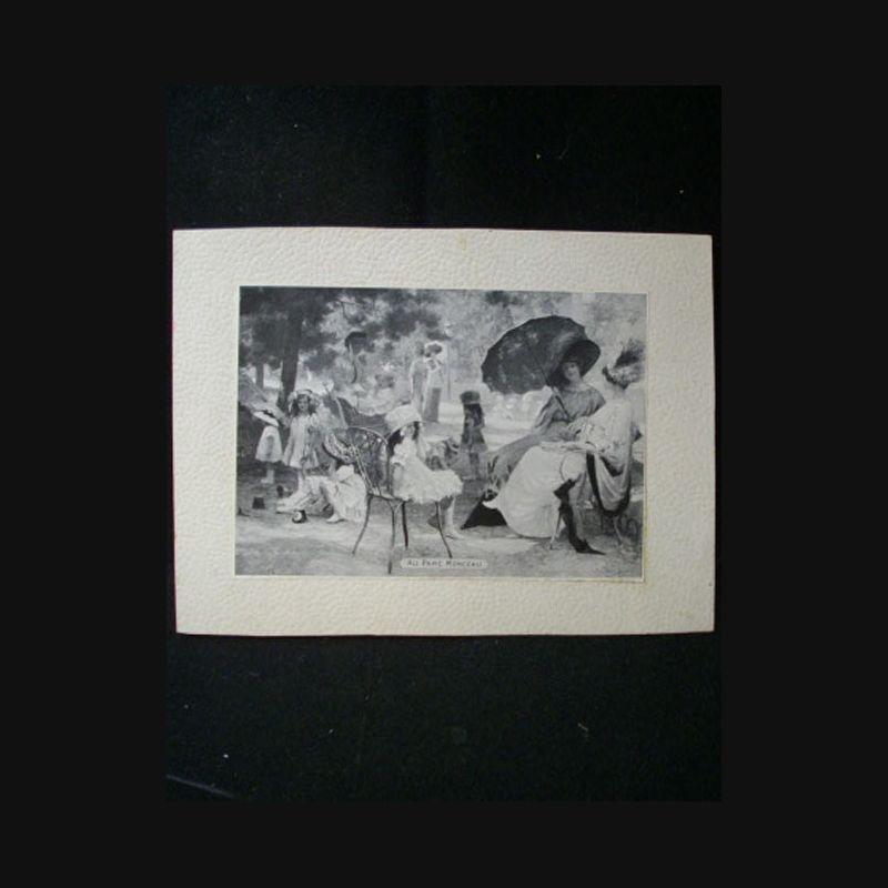 Mode reproduction de tableau d 39 une sc ne champ tre en for Tableau paris noir et blanc