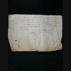 vieux manuscrit (25) du 30 brumaire an sept comprenant 1 page recto d'un reçu avec un sceau de 15 cent de la République française au verso