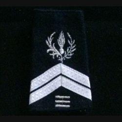 FOURREAU COMMISSARIAT : Fourreau de sergent engagé du commissariat avec trois barres d'ancienneté