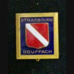 ECOLE STRASBOURG ROUFFACH : insigne de l'école militaire de Strasbourg Rouffach en émail de fabrication Drago Rue Béranger dos brillant