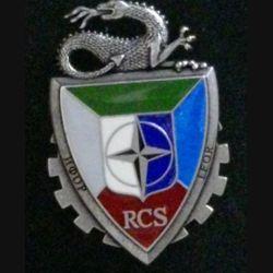 RCS IFOR : insigne du régiment de commandement et de soutien du mandat de l'IFOR fabrication Deslsart G. 4365