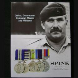 0. CATALOGUE SPINK : catalogue daté du avril 2012 de vente de médailles militaires principalement britanniques et du monde entier superbement documenté (C65)