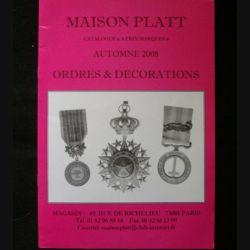 0. CATALOGUE PLATT : catalogue à prix marqués de avril 2003 d'Ordres et de décorations du monde entier (C83)