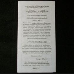 0. Liste 2001 - 01 d'insignes militaires illustrés en couleur réalisé par la SARL IML insignes militaires Lavocat : catalogue de 363 insignes couleurs côtés (C91)