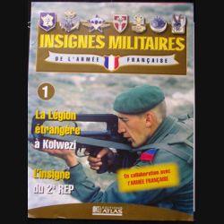 0. insignes militaires de l'armée française n°1 : l'insigne du 2° REP (régiment étranger de parachutistes de la légion)