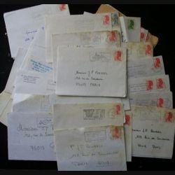 Lot de plus de 30 flammes postales de l'année 1987